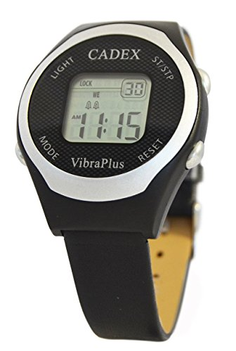Cadex VibraPlus – 8 Alarm Reminder Watch with Vibrating/Beep Notifications – Vegan Leather Band