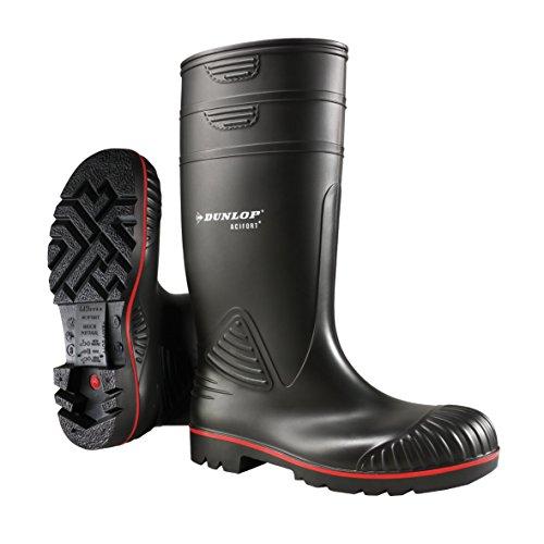Dunlop Protective Footwear Acifort Heavy Duty full safety Unisex-Erwachsene Gummistiefel, Schwarz, 46