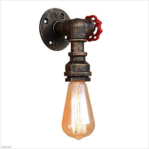 Im europäischen Stil Retro Style Wasserrohr Wandleuchte mit Edison E27 1-Licht Socket Single Head Wandlaterne Vintage Wandleuchte Lampe XYJGWBD