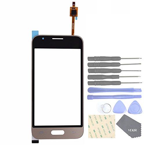 VEKIR Reemplazo de la Lente de Cristal táctil de Pantalla para Samsung Galaxy J1 Mini Prime J106F J106B J106H (Golden)
