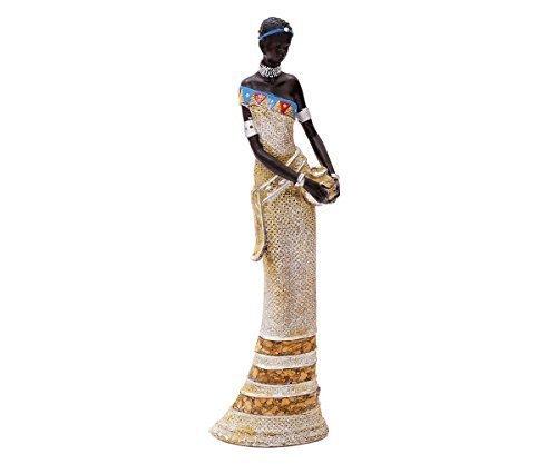 Brillibrum Design Afrikanische Dekofigur Frau Deko Figur Afrika Skulptur Statue Massai Afrikanerin Groß Zulu Schale Mit Schüssel Krug Stehend Kniend Liegend Flyer (Figur stehend)