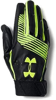Under Armour UA Clean Up Baseball Batting Gloves Youth MEDIUM (Black Hyper-Vis Green)