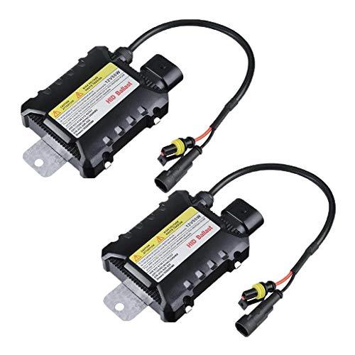 Shiwaki 2 Stück Vorschaltgeräte HID Ballast Ersatz 12V 35W / 55W Für Xenon Light Ersatz Slim Ballast Blocks - Schwarz, 55W