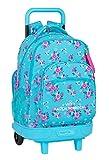 Safta Mochila Escolar con Carro Incluido y Espalda Acolchada de VMB Bohemian, 330x220x450mm, turquesa/rosa