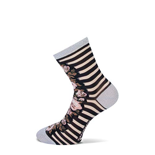 MarcMarcs Aimee Damen Socken 2 er Pack (35/38, Black/Gold)