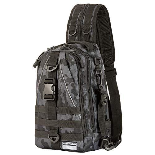 Ghosthorn Fishing Tackle Backpack Storage Bag - Outdoor Shoulder Backpack - Fishing Gear Bag Standard Incognito Camouflage