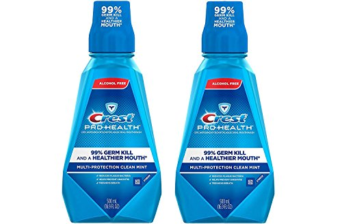 Crest Pro Health Multi Protection Clean Mint Mouthwash, 16.9 Ounces (Pack of 2)