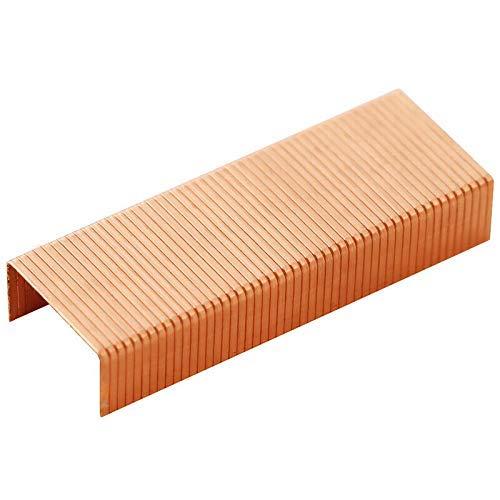 Grapas de cobre 24/6 clavos estándar en forma de U universales para usar en la mayoría de las grapadoras (3 cajas de 1000 unidades/caja)