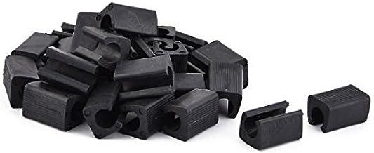 DealMux Plastic Huishoudelijke Floor Protector Anti-slide Stoel Voetkap Buis Insert 30st Zwart