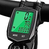 KOROSTRO Contachilometri Bici, Computer da Bicicletta, Tachimetro Bici Wireless Ciclocomputer con Display LCD...