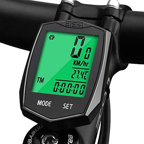 Fahrradcomputer Wasserdicht, Korostro Fahrradcomputer Kabellos Fahrrad Computer Wasserdicht LCD Backlight 24 Funktionen, Leicht Geschwindigkeitsmesser Kilometerzähler für Radsport Realtime Speed Track