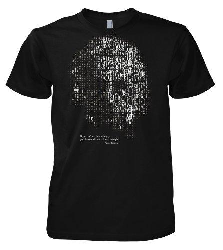 Chameleon Clothing - Geek Albert Einstein Explain It Simple 701691 - Maglietta da uomo Nero  XL