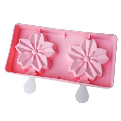 Frozen Ice Cream DIY Mold – 2 Cell Ice Cream Maker Flower Ice Cream Mold Cupcake Cake Topper Decoration Handmade Ice Cream Mold – 20.3X10.3X2.1CM