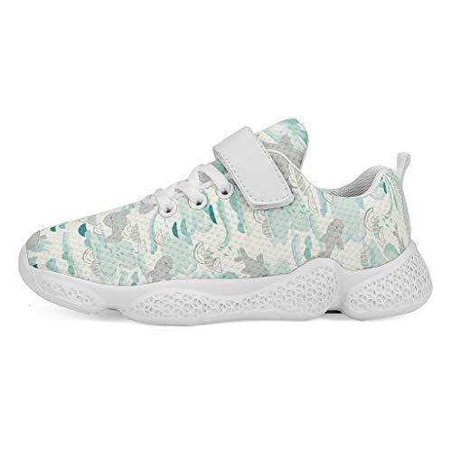 YxueSond Happy Sea Lion Fashion Atmungsaktive Sportschuhe Atmungsaktive Sneakers Skifahren Leichte Gym Jogging Schuhe für Mädchen 42 weiß