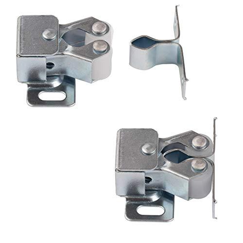 LouMaxx Möbelschnapper 5er Set – Schnappschloss - Tür Verschluss - Möbelschnäpper - Rollenschnäpper - Stabiler Türverschluss oder Möbelverschluss geeignet für Türen aller Art