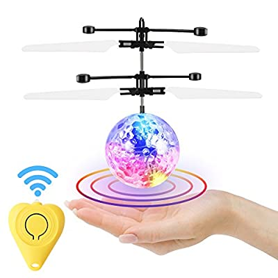 GEEKERA Flying Ball, Remote Control Helicopter Mini Drone Magic RC Kids Toys with Flashing LED Lights for Boys Girls Teenagers Birthday Xmas Children's Day