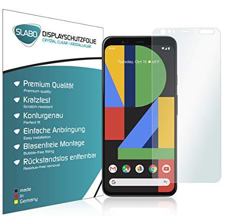 Slabo 4 x Bildschirmschutzfolie für Google Pixel 4 XL Bildschirmfolie Schutzfolie Folie Zubehör Crystal Clear KLAR