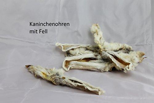 Kaninchenohren mit Fell (1kg/ca.80Stück)
