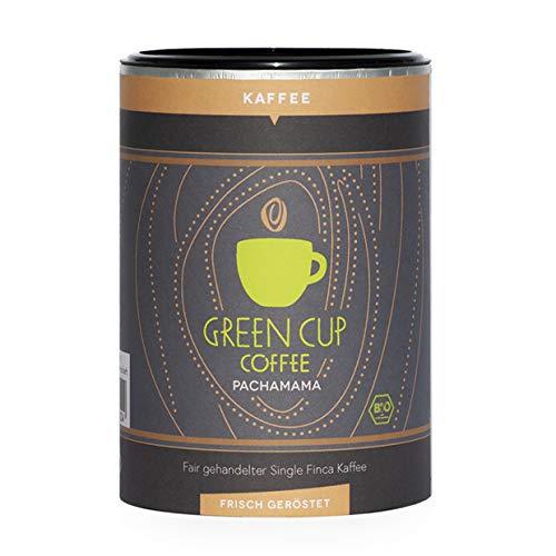Green Cup Coffee Pacha Mama - der Hochlandkaffee aus Peru - sortenreine Fairtrade Kaffeebohnen - der faire Kaffee für Genießer - Bio Bohnen - 227g Dose ganze Bohne