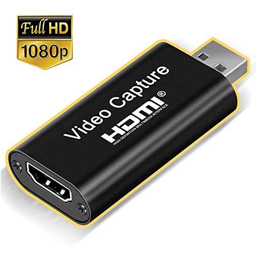 ONTA Video Capture Card, HDMI Videoaufnahmekarte, 60fps HD Video und Audio Aufzeichnung Karte USB 2.0 Support, 1080P Aufnahme über, Camcorder, DVD, Phone, DSLR unterstützt auch Live Streaming Und Game