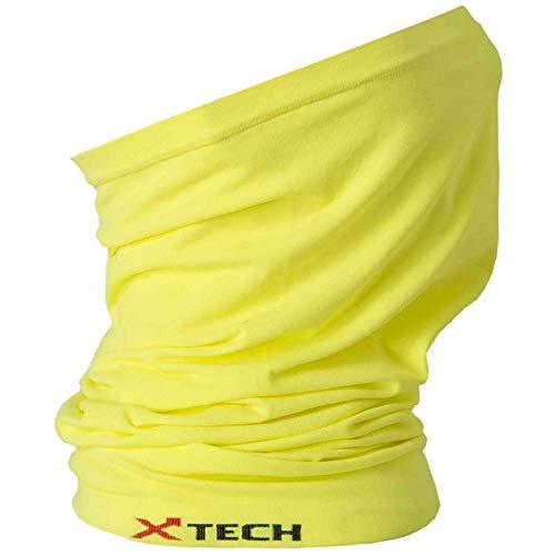 Xtech X-Tube Scaldacollo Multiuso, Giallo Fluo (Taglia Unica) - Giallo, Unica