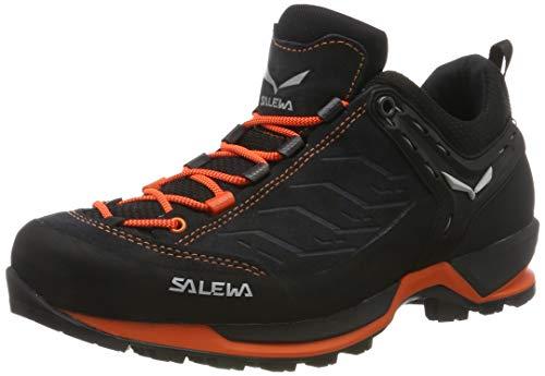 Salewa WS Alp Mate Mid Waterproof, Chaussures de Randonnée Hautes Femme, Gris (Asphalt/Fluo Orange), Taille 45 EU