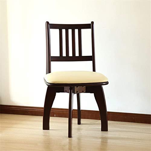 LTHDD Silla de comedor de madera maciza moderna minimalista para el hogar multifunción silla de ordenador respaldo de madera maciza (color: A) (color: B)