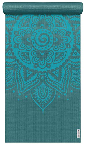 Yogistar Yogamatte Basic Art Collection Spiral Mandala Petrol