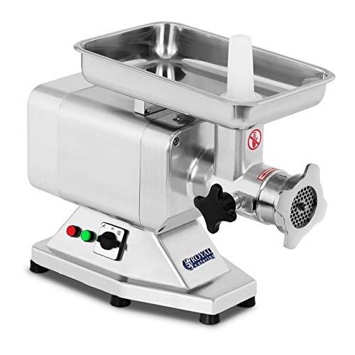 Royal Catering Fleischwolf Wurstmaschine Fleischmaschine (elektrisch, 120kg/h, 850 W, 2 Lochscheiben 5/8 mm, PRO-Serie, Edelstahl)