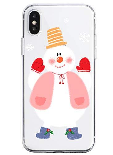 Oihxse Case Compatible Para Samsung Galaxy A20/A30, Etui en Silicone Souple Ultra Mince Transparente Crystal Coque Motif de Mignon Noël Christmas Snowflake Protection Housse