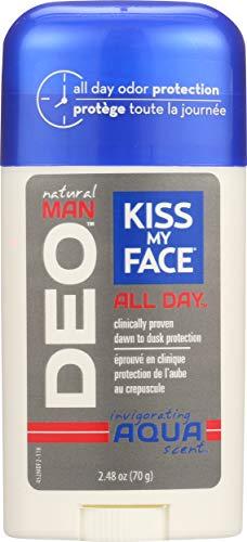 Kiss My Face Natural Man Aqua Deodorant, 2.48 Ounce