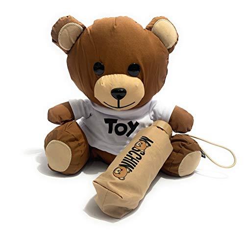 TEDDY BEAR MOSCHINO & OMBRELLO SUPER MINI RETRAIBILE BEIGE