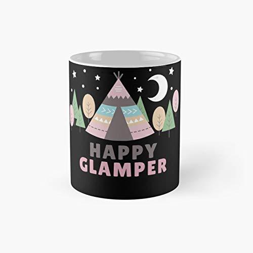 Happy Glamper-Glamping Fun Classic Taza de café divertida, el mejor regalo, 325 ml