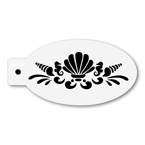 Maydear Face & Body Painting Stencils Reusable, Tattoo Painting Stencils Reusable Painting Templates-Shell
