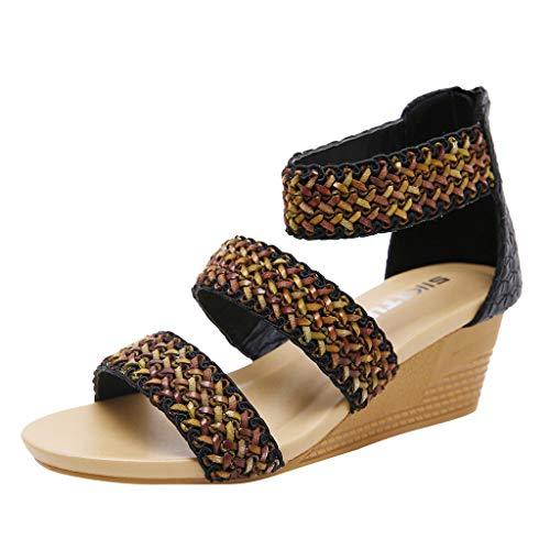 Modieuze sandalen voor dames, lente, zomer, vrouwen, wig, zacht, leer, vrijetijdsmode, vis, mond, hol, romanschoenen, modieus, doorbroken sandalen