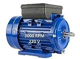 MOTOR ELECTRICO MONOFASICO 2,2KW / 3CV 220V 3000RPM B3 (PATAS) TAMAÑO 90L (EJE 24mm)