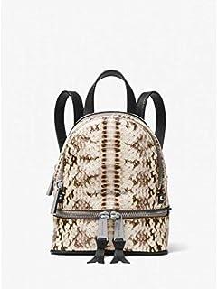 Michael kors Rhea Mini Snake-Embossed Leather Backpack 30S8SEZB0N