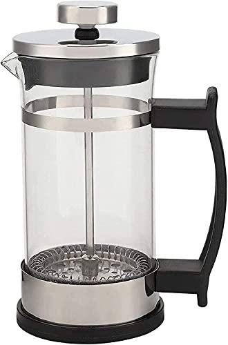 ZXYDD Cafetera de prensa de vidrio francés, cafetera con filtro para la máquina de té doméstica (color: transparente, tamaño: 11 x 7,2 x 16,3 cm) (color: transparente, tamaño: 11 x 7,2 x 16,3 cm)