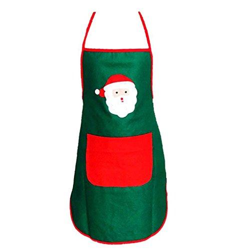 Nikgic Tabliers de Noël cadeau de décoration de Noel de Noël Costume de Noël non-tissés Tablier Décoration de Noël Vert