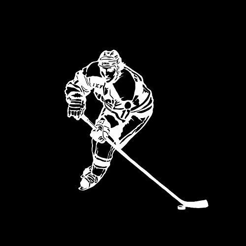 Auto Aufkleber Auto Styling Persönlichkeit Eishockey Mode Sport Vinyl Weiß 11,5 Cm * 13 Cm, 2St
