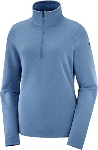 Salomon Warm Ambition Hz Mid W Fleecejacke Damen S Blau (Copen Blue)