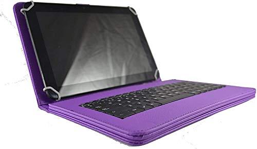 theoutlettablet® Funda con Teclado extraíble en español (Incluye Letra Ñ) Type-C para Tablet Samsung Galaxy Tab S4 10,5 / Tab S3 9,7 Color Morado
