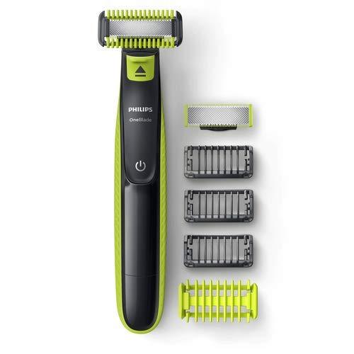 Aparador de pêlos para rosto e corpo, Philips, QP2620/10, Verde/limão/cinza/chumbo