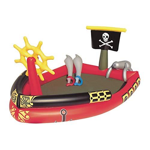 T-XYD Barco Pirata Inflable de Juguete Piscina Flotador Barco Yate Asiento de natación para bebé para niños Juguete de Agua de Fiesta de Playa de Verano al Aire Libre
