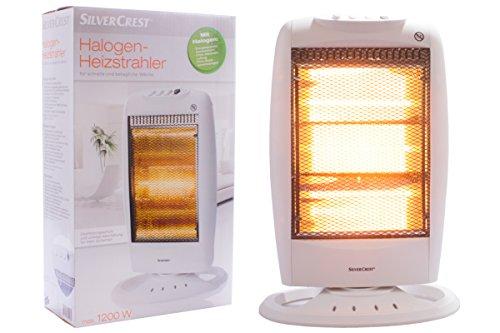 Silvercest® Halogen Heizstrahler SHH 1200 B1 - Energiersparend, Geräuscharm und ohne störenden Luftzug