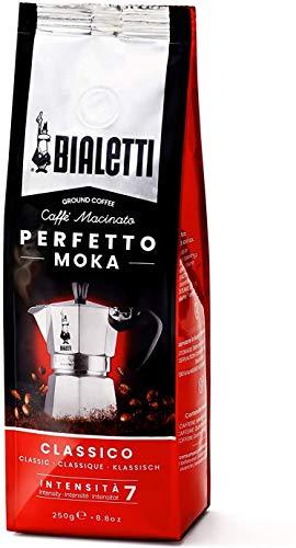 Bialetti Perfetto Moka (der perfekte Kaffee für den Moka), Gemahlener Kaffee - CLASSICO Geschmack Klassisch, 250 g