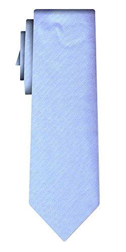 Cravate soie unie solid sky, fishbone texture