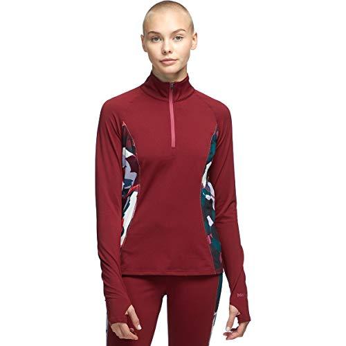 Marmot Wm's Midweight Meghan 1/2 Zip Tricot Femme, Claret/Multi Pop Camo, L
