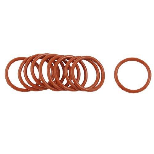 DealMux rojo oscuro de 22 mm OD de 2 mm de espesor de silicona, Ø anillos de aceite sellos de las empaquetaduras (10 piezas)