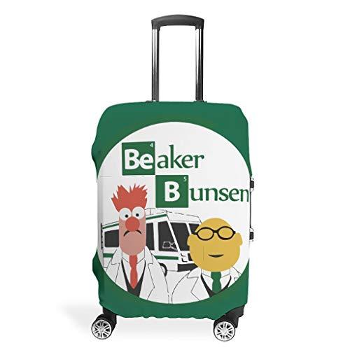Funda de equipaje lavable para maleta, no se ajusta fácilmente a cuatro tamaños para elegir funda antiarañazos, se adapta a 45,7 a 81,2 cm, regalo perfecto para acampar, White (Blanco) - Bohohobo46541